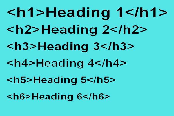 تگ هدینگ در HTML تگ h1 و h2 و h3 و h4 و h5 و h6 | آموزش طراحی سایت حرفه ای سایت آموزی