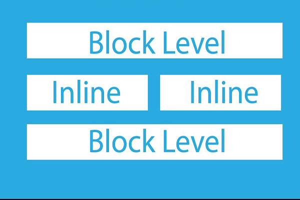 تگ های block-level و inline-level | لیست تگ های بلاک لول و اینلاین لول