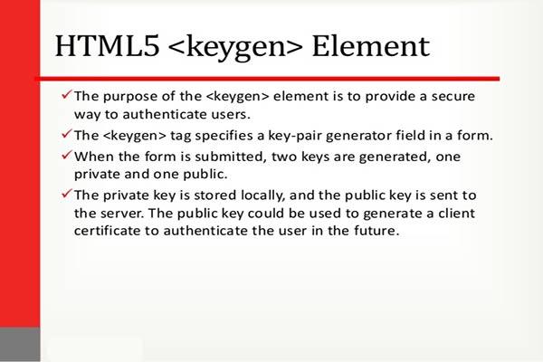تگ keygen در HTML5 | کلید عمومی | ویژگی challenge | ویژگی keytype
