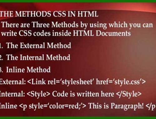 روش های استفاده از کدهای CSS در اسناد HTML