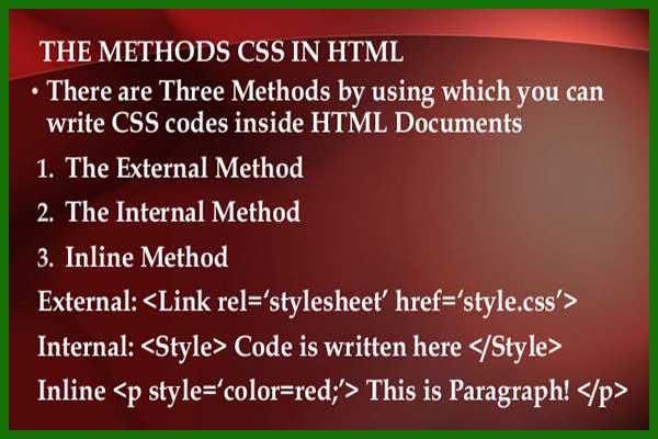 تصویر: https://siteamoozi.com/wp-content/uploads/2017/08/css-method-to-html.jpg