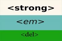 تگ strong ، تگ em و تگ del در html | کاربرد تگ strong