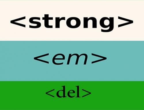 تگ strong ، تگ em و تگ del در html