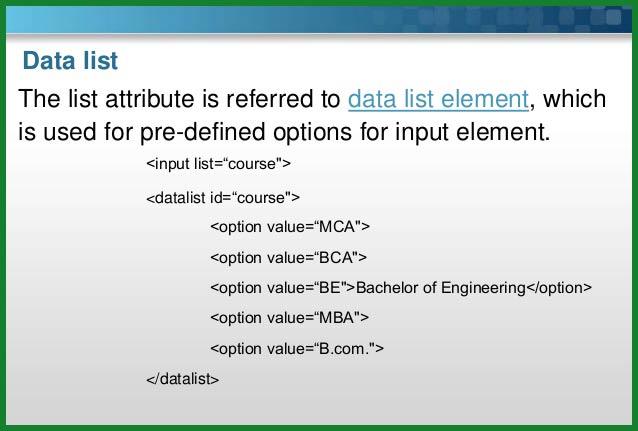 تگ datalist در HTML5 | خاصیت list | لیست بازشو در html | فهرست بازشو