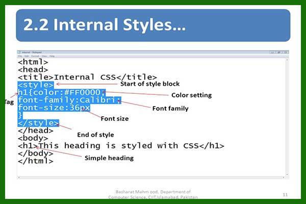 زبان css در طراحی سایت | زبان طراحی css | زبان سی اس اس | طراحی با css