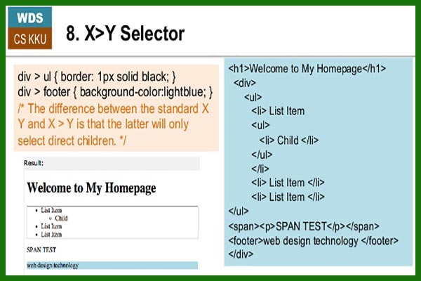سلکتور های css بخش سوم x y selector و x+y selector - سایت آموزی