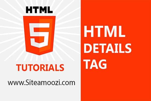 معرفی و کاربرد تگdetailsدر HTML