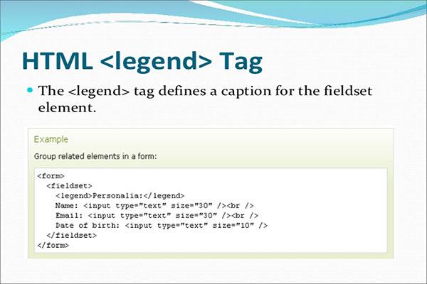معرفی و کاربرد تگ legend در HTML