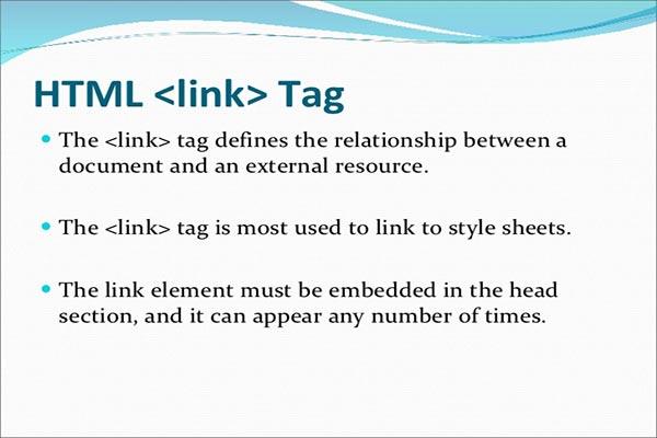 معرفی و کاربرد تگ link در HTML