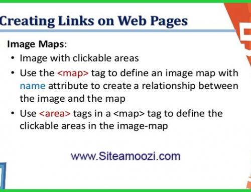 معرفی و کاربرد تگ map در HTML