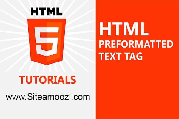 معرفی و کاربرد تگ pre در HTML