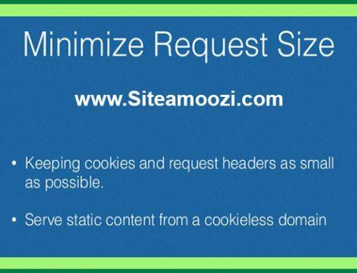 رفع خطای minimize request size در gtmetrix