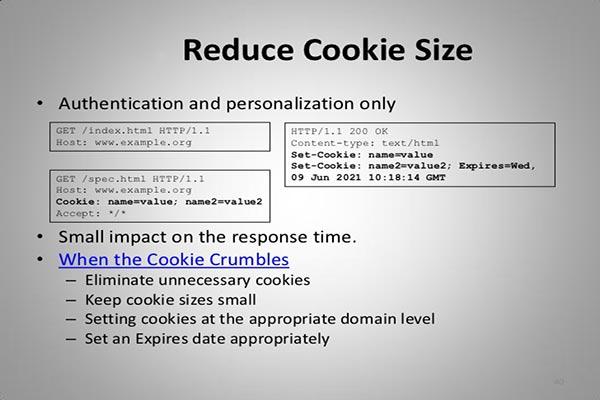رفع خطای reduce cookie size در YSlow | خطای Reduce cookie size