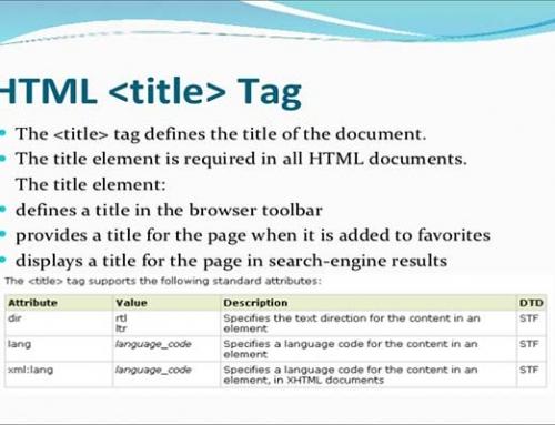 معرفی و کاربرد تگ title در HTML