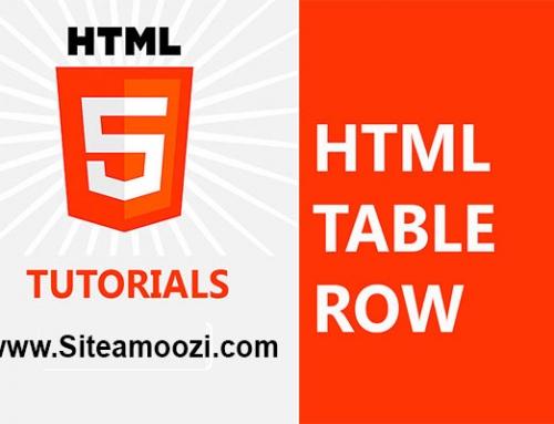معرفی و کاربرد تگ  tr در HTML