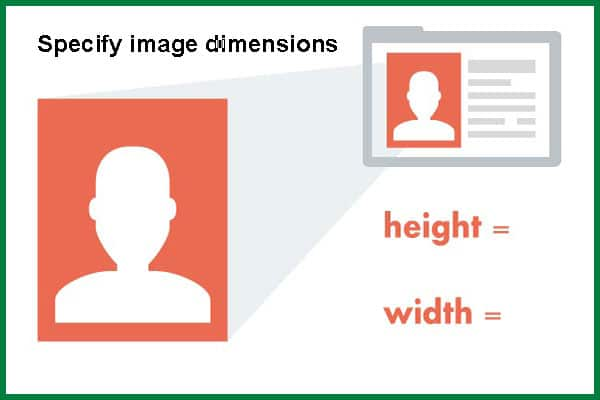 رفع خطای Specify image dimensions | رفع مشکل image dimensions