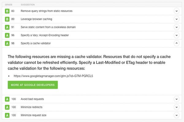 رفع خطای Specify a cache validator جی تی متریکس | cache validator