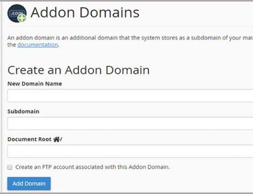 آموزش ایجاد addon domain در سی پنل