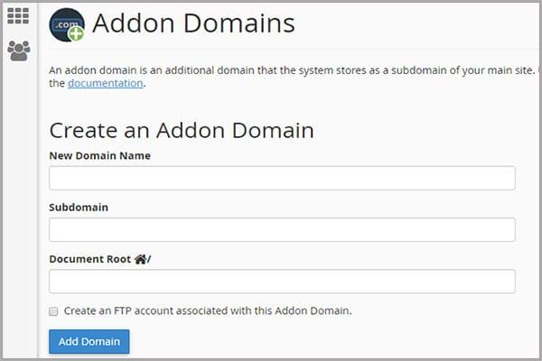 آموزش ایجاد addon domain در سی پنل | اضافه کردن دامنه جدید در cpanel