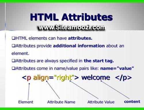 لیست کامل صفات تگ های HTML