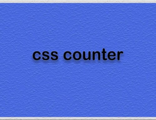 صفت counter-reset در css