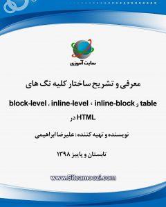 کتاب آموزش HTML نحوه نمایش تگ ها طراحی وبسایت نوین